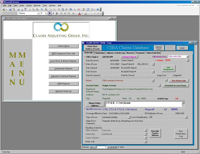 CIBA Insurance Services (Claims) screen shot 1
