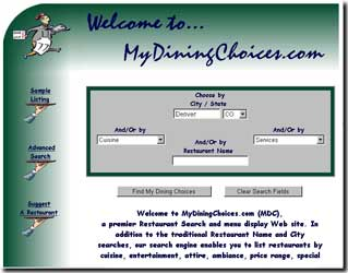 My Dining Choices screen shot 1